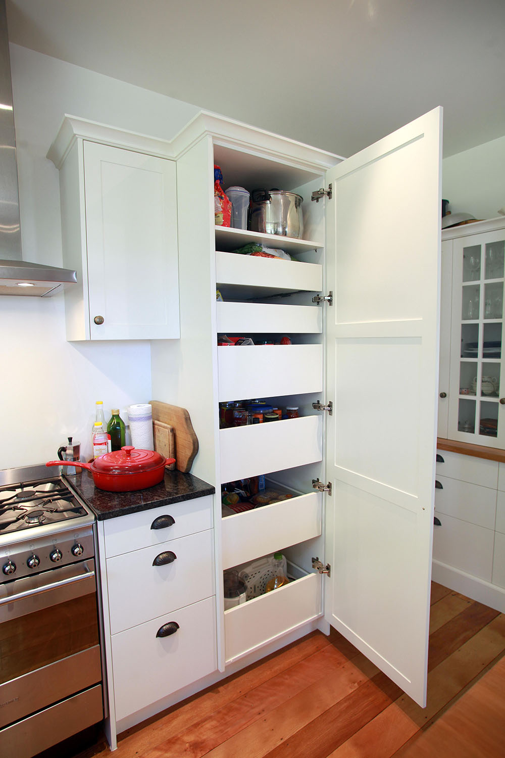 Custom pantry drawer system