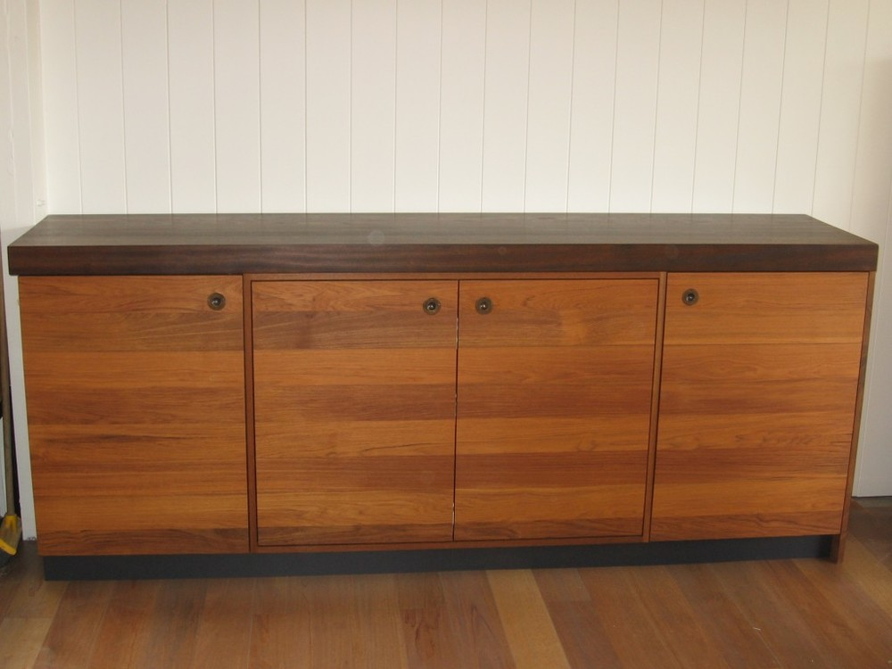 Teak & Mahogany TV storage unit