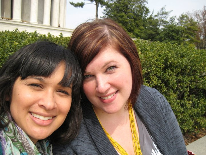 Heather (right) and me (left) at the Jefferson Memorial, Washington D.C., April 2011.