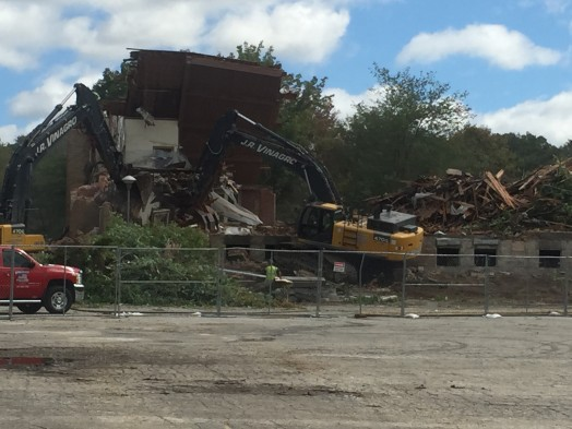 St. James the Great demolition, September 2015. Photo source:  thewellesleyreport.com