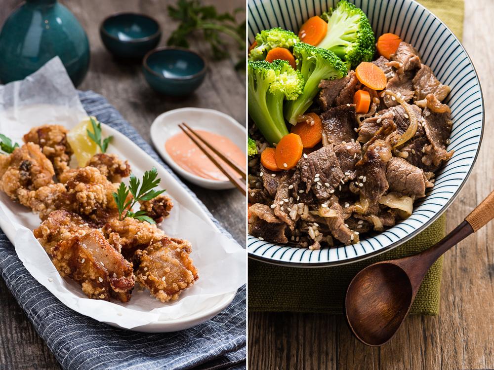 Fried Chicken & Beef Rice