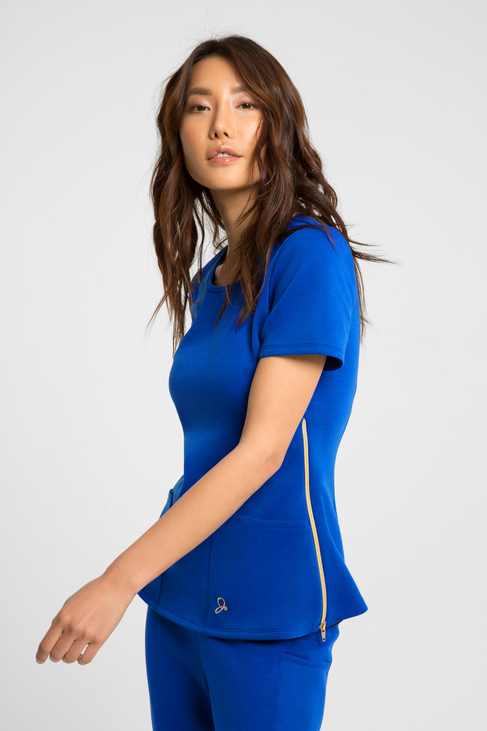 health care age care uniform blue