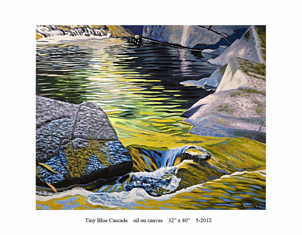 7) Tiny Blue Cascade; 32 x 40; 5-2012.jpg
