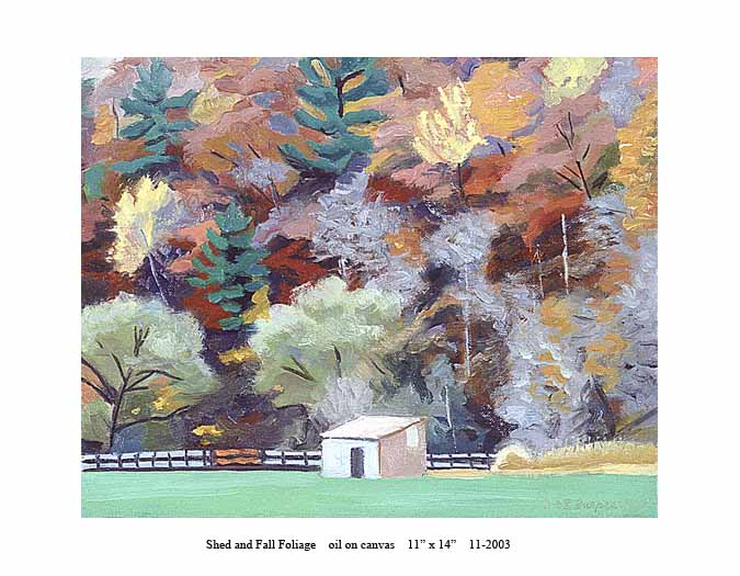 4) 11-2003 Shed & Fall Foliage 11 x 14.jpg