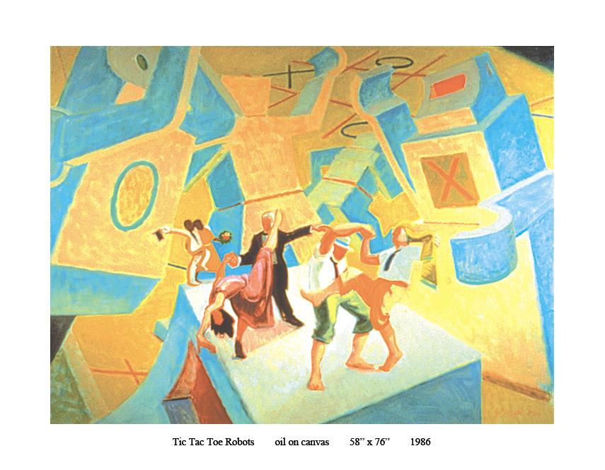 8)-1986-Tic-Tac-Toe-Robots-oil-58-x-76.jpg