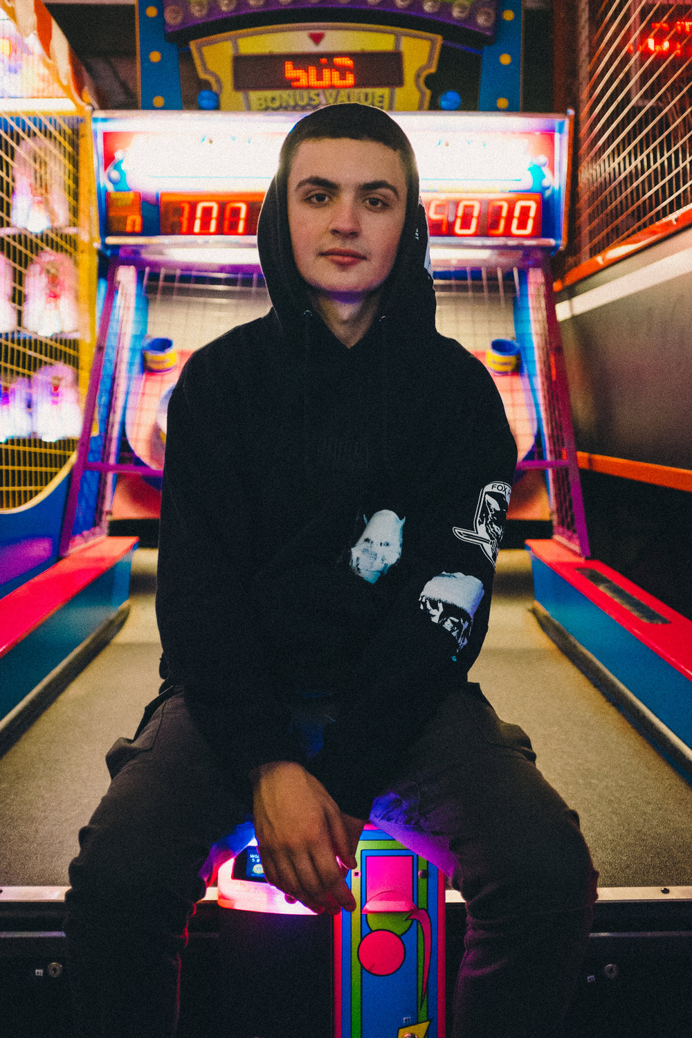 Jay in the Chinatown arcade