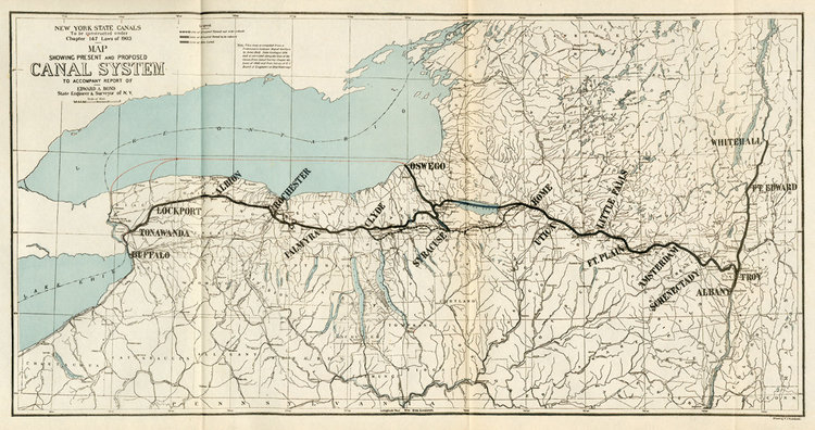 new york canal map