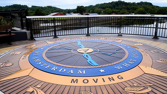 Take a leisurely stroll over the Mohawk Valley Gateway Overlook, a unique park over the Mohawk River.