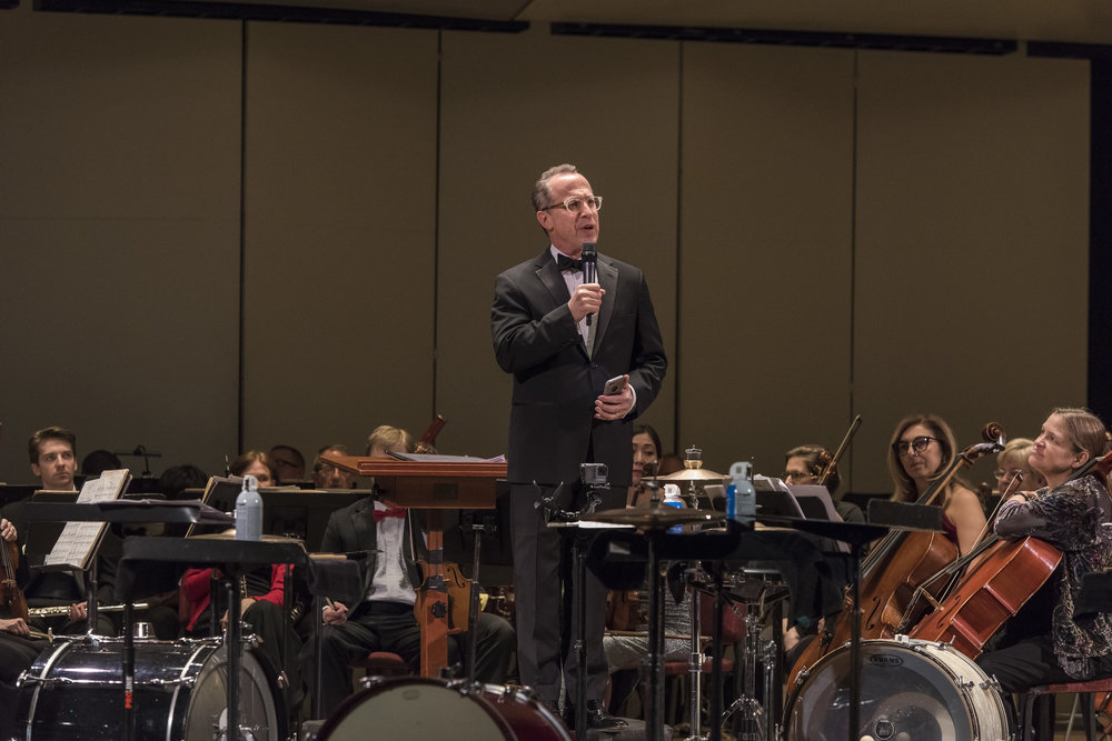 Maestro David Alan Miller welcoming the audience