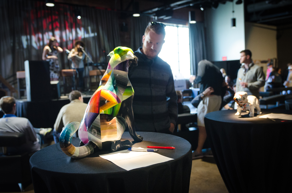 It was a close call for who would take home Nathan Brown's dog sculpture!