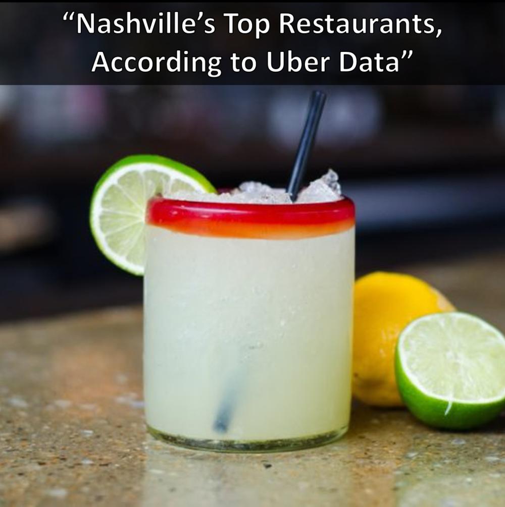 Saint Anejo, Virago, Whiskey Kitchen, and Tavern Nashville's Top Restaurants According to Uber