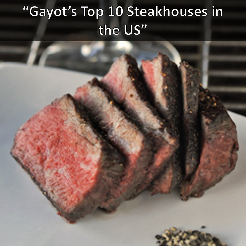 Kayne Prime Top 10 Steakhouses in the US