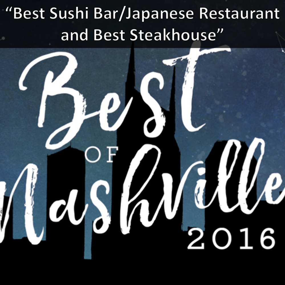 Nashville Scene Reader's Poll Virago Best Sushi and Kayn Prime Best Steakhouse