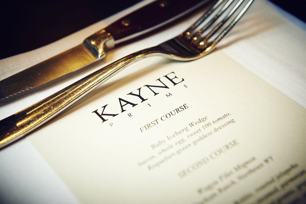 Kayne Primev private dining