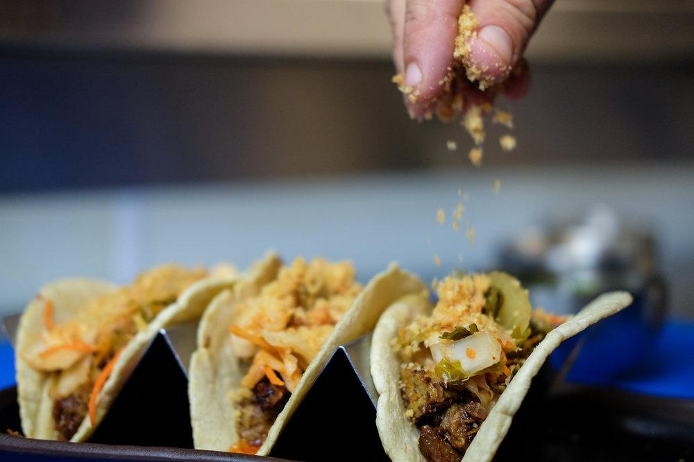 Saint Anejo tacos