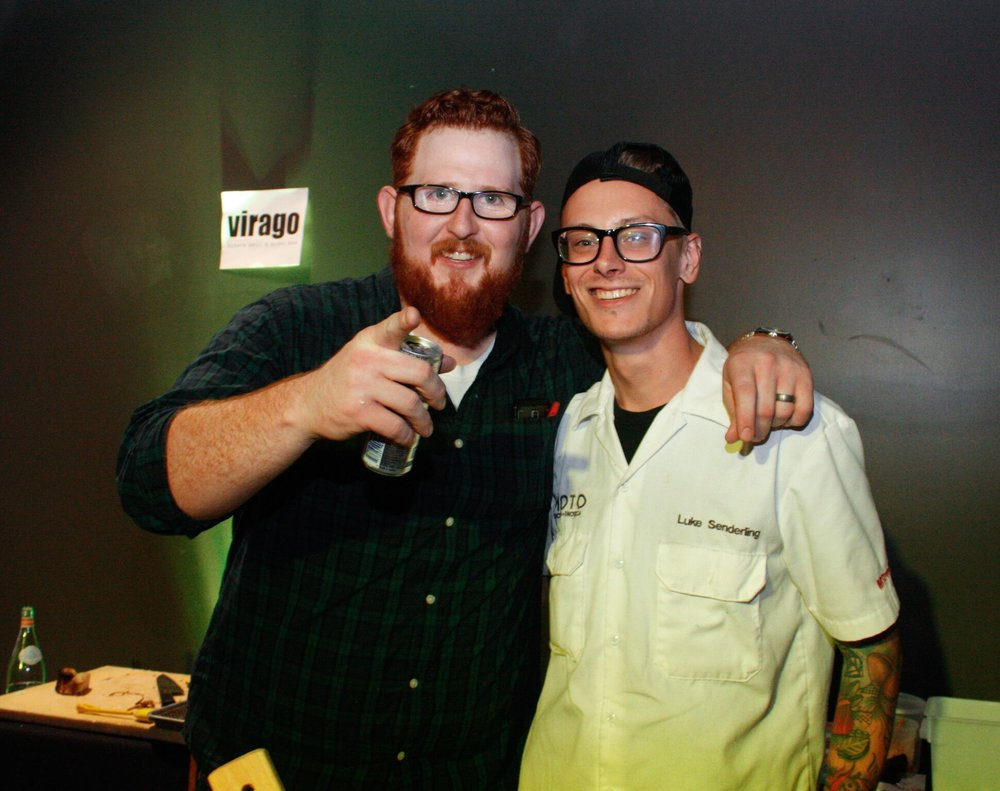 Chef Luke (right) with Virago's current Executive Chef, Andrew Whitney (left)