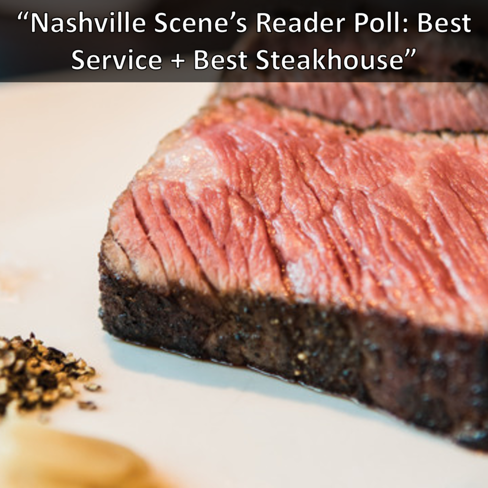 Nashville Scene Reader's Poll: Best Service and Best Steakhouse: Kayne Prime