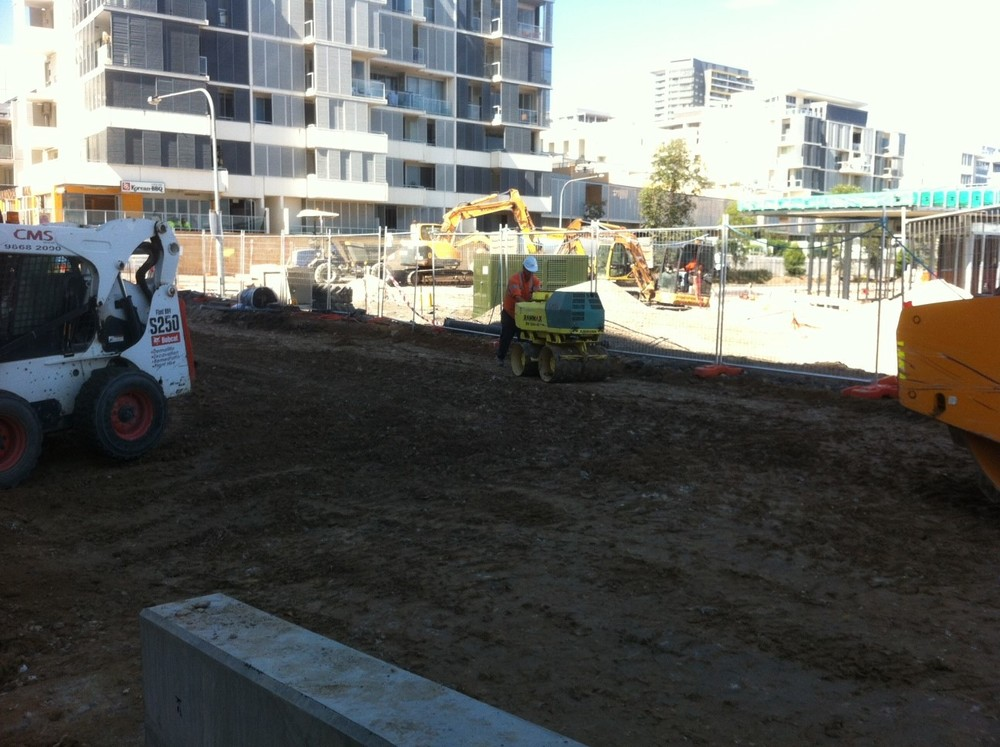 Compaction works with trench roller.jpg
