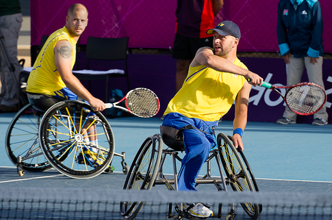 wheelchair tennis with high level amputation