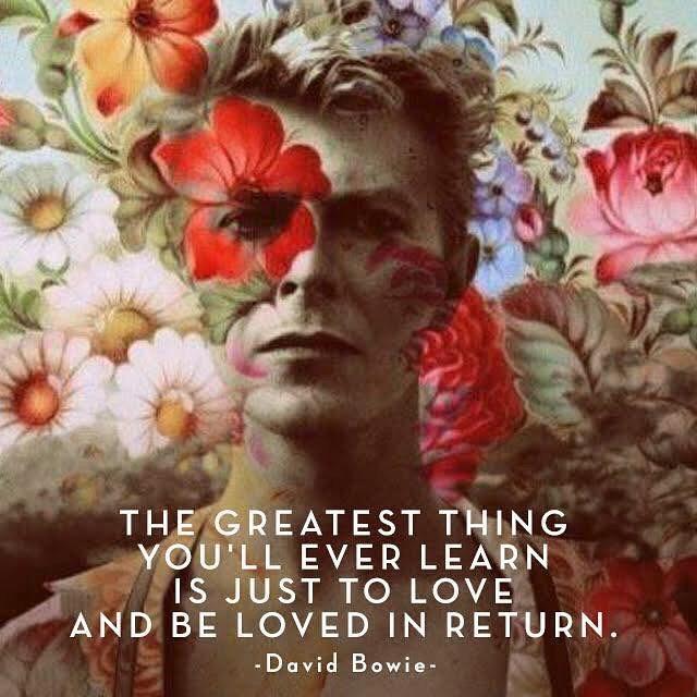 Bold, beautiful, Bowie wisdom ;) #jenkatketherapy #therapysfjenkatke #davidbowie, #learningtolove