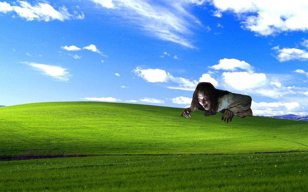 Pictured: Daytime, a nightmarish hellscape of existence. There's a reason they use this as your work computer wallpaper. Also, are our photoshop skills getting better? Because I feel like our photoshop skills are getting better.