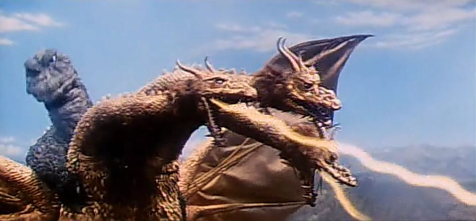 King Ghidorah ain't shit. Look how bored Godzilla is.