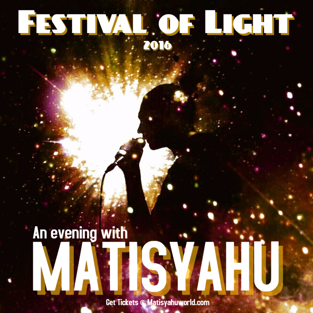 Head over to www.MatisyahuWorld.com for tickets! Image by Artist: Jersey Maria