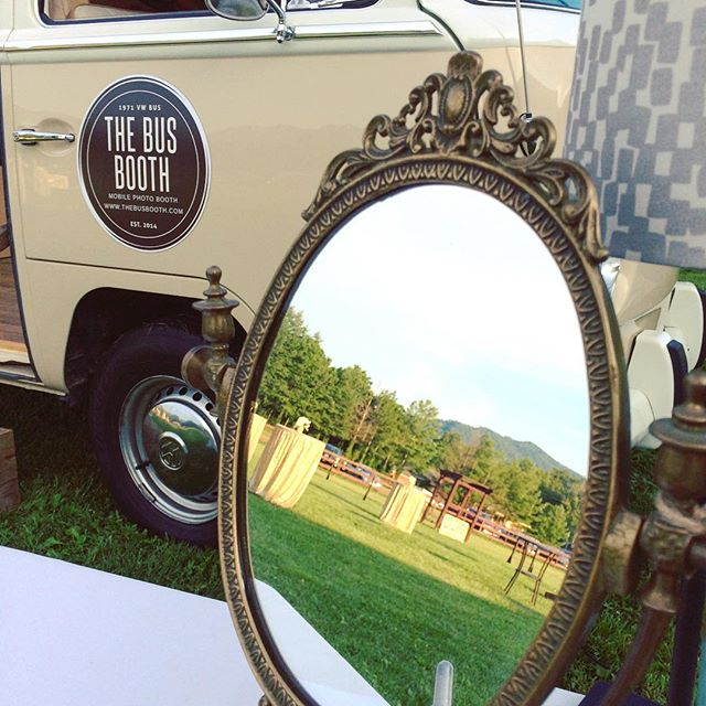 We love weddings in the North Carolina mountains! Thanks to Paige and her team @hiddenriverevents for creating another epic evening! #thebusbooth #maggiethebus #vwbusphotobooth #ashevillewedding #wncwedding #cre828 #828isgreat #hiddenriverevents
