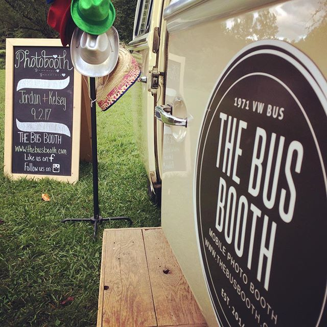 We're celebrating Jordan + Kelsey tonight at the Brevard Music Center. Happy Wedding Day! #meetthebatestings  #Thebusbooth #maggiethebus #vwbusphotobooth #ashevillewedding #wncwedding #cre828 #828isgreat #brevardmusiccenter