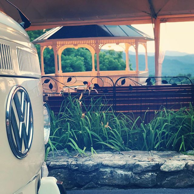 The Inn at Tranquility Farm is just one of the amazing venues that we get to visit here in Western North Carolina. Check out that view!  #thebusbooth #vwbusphotobooth #ashevillewedding #wncweddings  #innattranquilityfarm