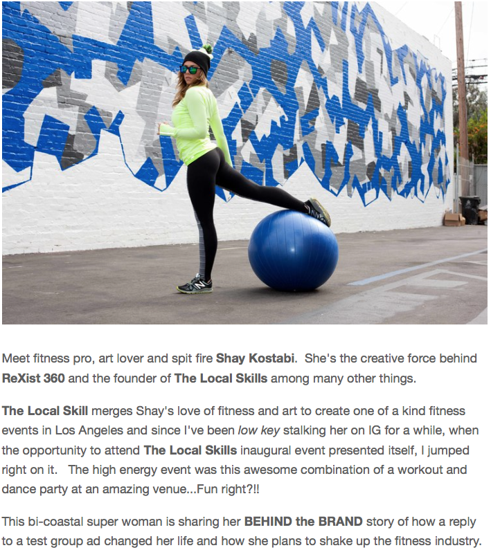 continue reading... http://www.fitoutfit.com/behindthebrand/2015/11/1/shay-kostabi-rexist360-the-local-skill