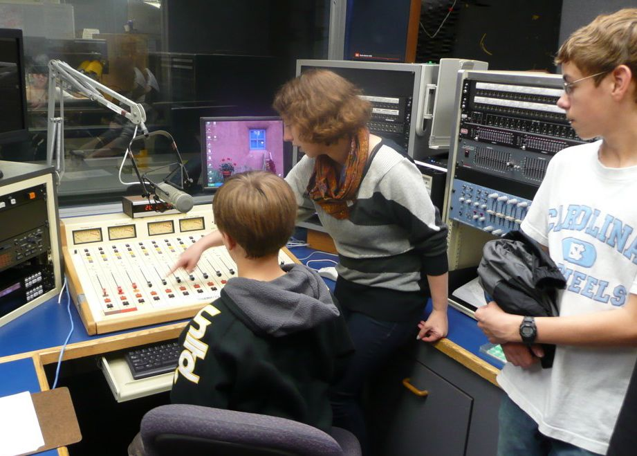 Visit to the College of New Jersey Radio Station