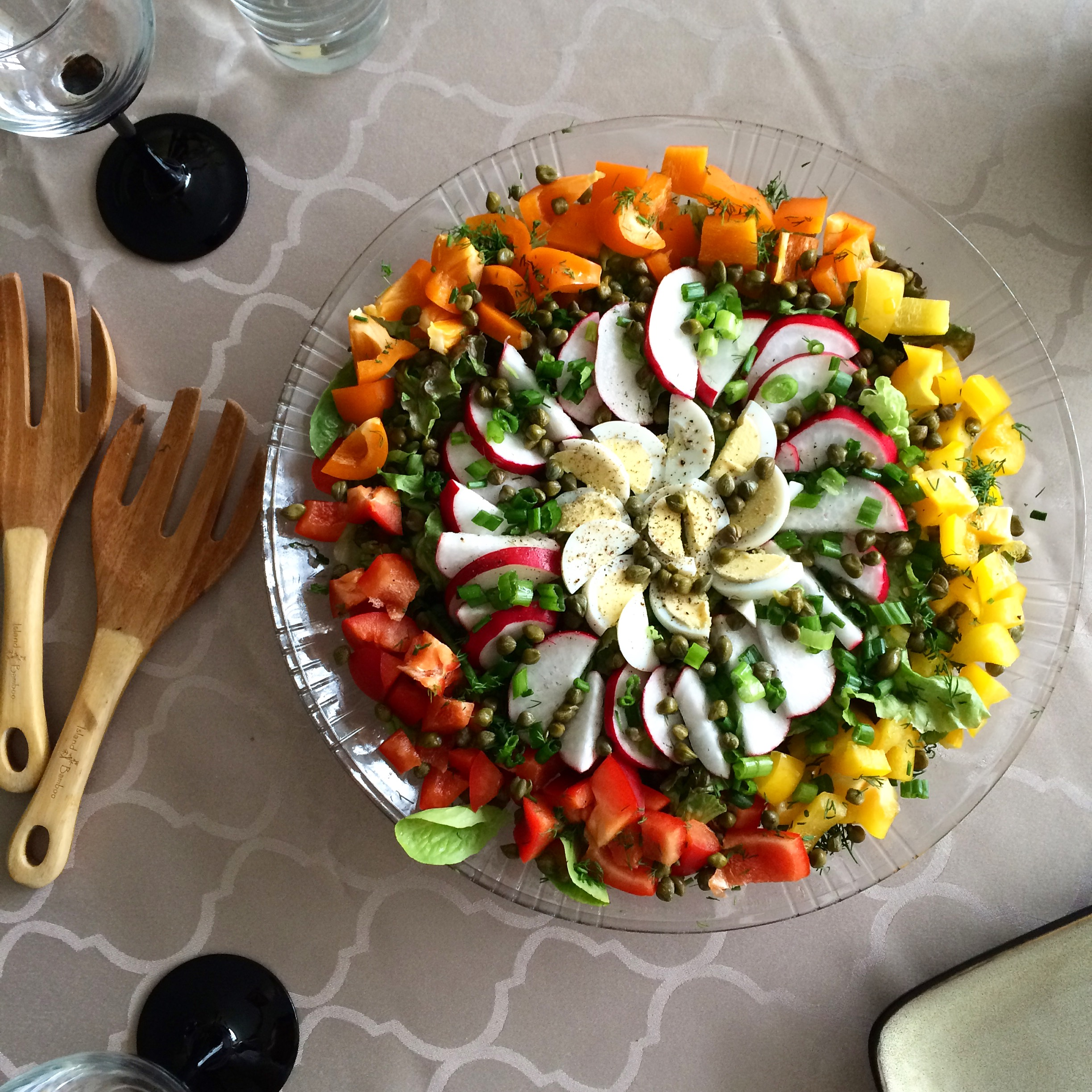 rainbow salad recipe seasonal summer