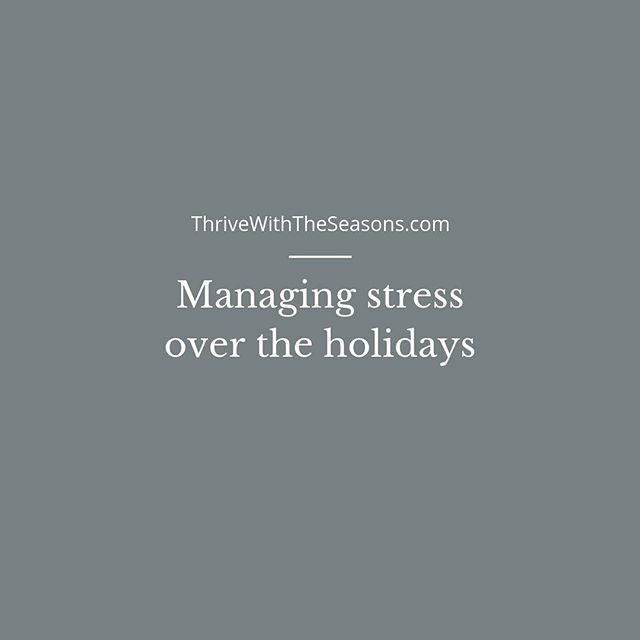There's so much cheer in the air leading up to the holidays with the endless festive music to yummy gingerbread/sugar cookies. But for some, there's a sense of overwhelm, exhaustion, loss during the holidays. If you find the holidays a stressful time of year, here are a few tips to build more resiliency and add a little more cheer. ❎ Don't be afraid to set boundaries. 💭 Set aside differences. You can't change anyone's behaviour/opinion but you can change how you approach certain situations. 💰 Stick to a budget. If $ is a stressor, remember no amount of $ will bring happiness. If you're on a tight budget, give something from the heart. ✍️ Plan ahead. If you know it's going to be hectic, plan aside some time for yourself. ⛰ If things get too much, learn to say no. You don't need to make up an excuse, simply say no thank you. ❤️ Don't abandon healthy habits and let go of what doesn't work. . . . #stressrelief #holidaystress #stressmanagement #selfcarematters #holidaystressrelief #embraceyourpast #journalprompts #selfreflection #nutritionprogram #nutritioncoach #nutritionforstress #resiliency #healthyholidays