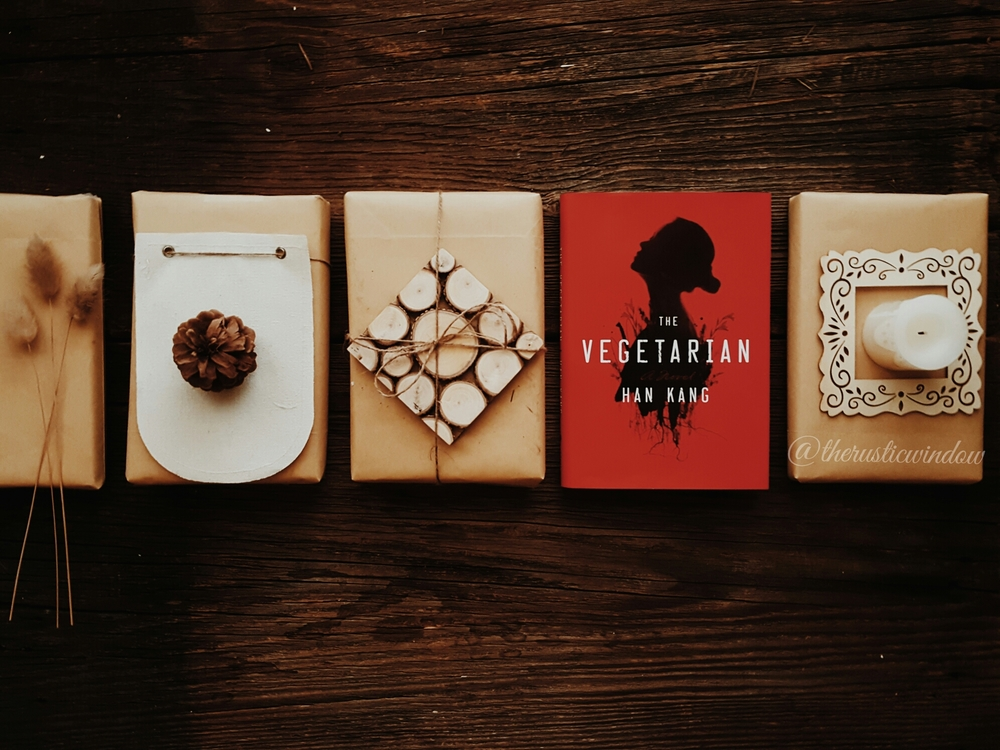 The vegetarian by han kang    Published by Hogarth, February 2, 2016  (first published October 2007)  GENRES: AduLt Fiction   PAGES:   192    FORMAT:   Hardback   SOURCE:   Purchased   PACING: {3/5}