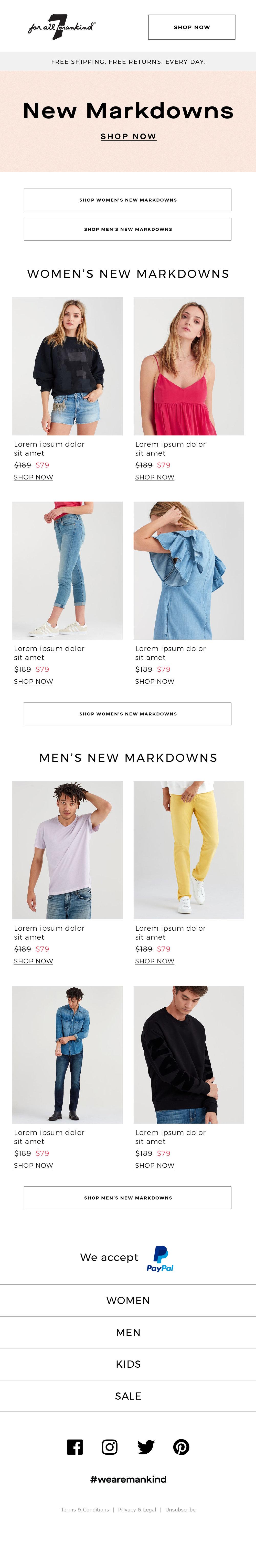 New Markdowns