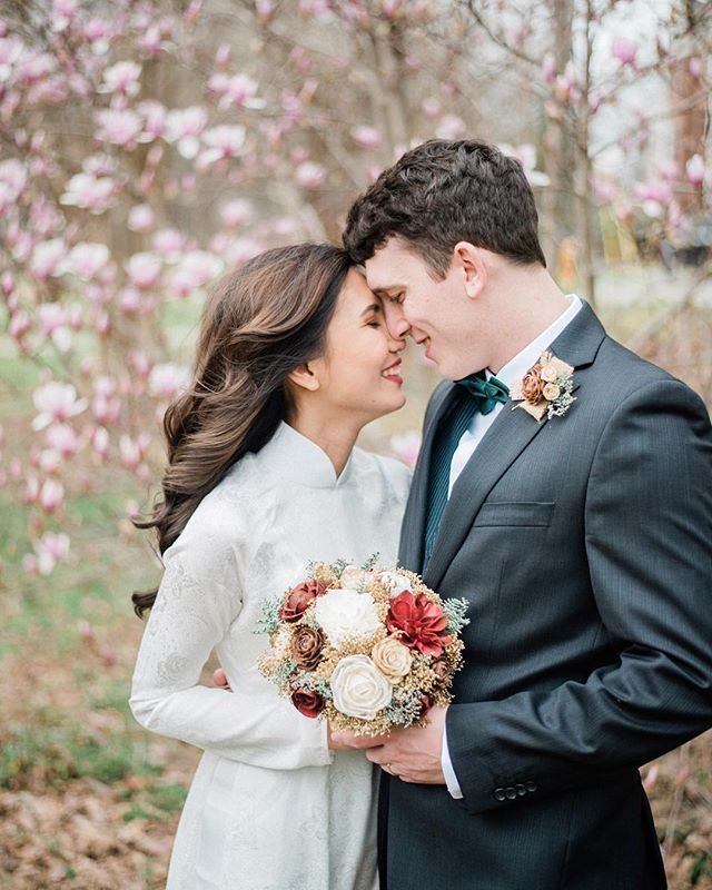 Mila & Aaron are married! Such a sweet intimate ceremony. I truly felt so special to be apart of this one. So happy for you both!(And for Charlotte serving up these blooms in February 😍)