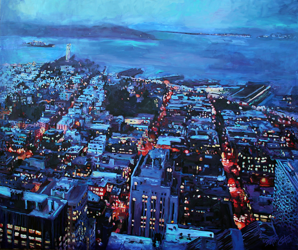 Telegraph Hill in Blue