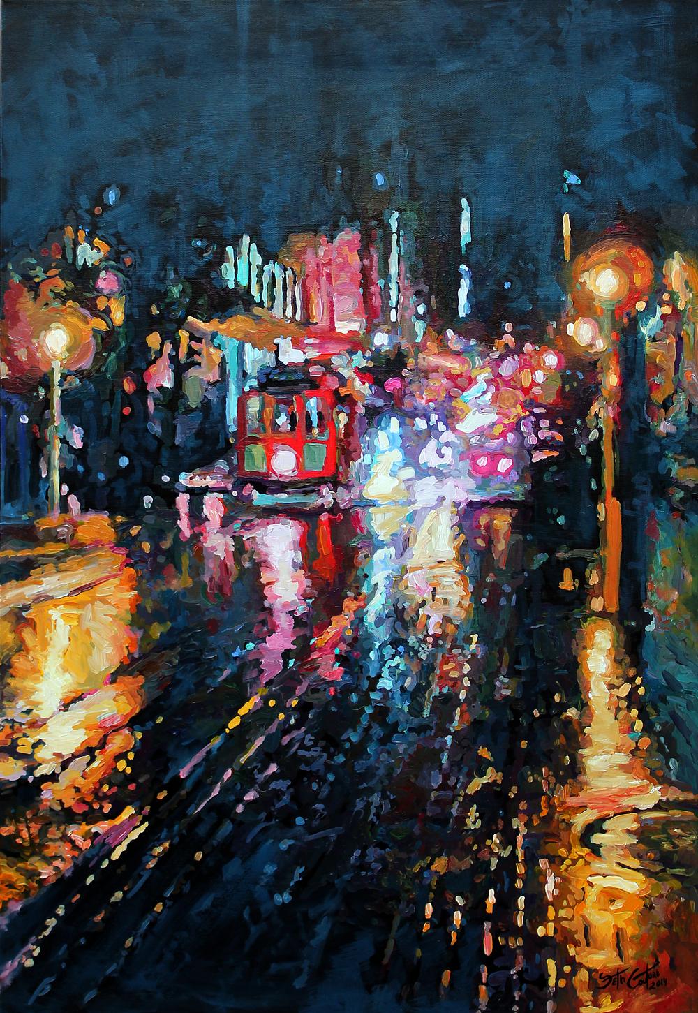 Rainy Evening on Powell Street