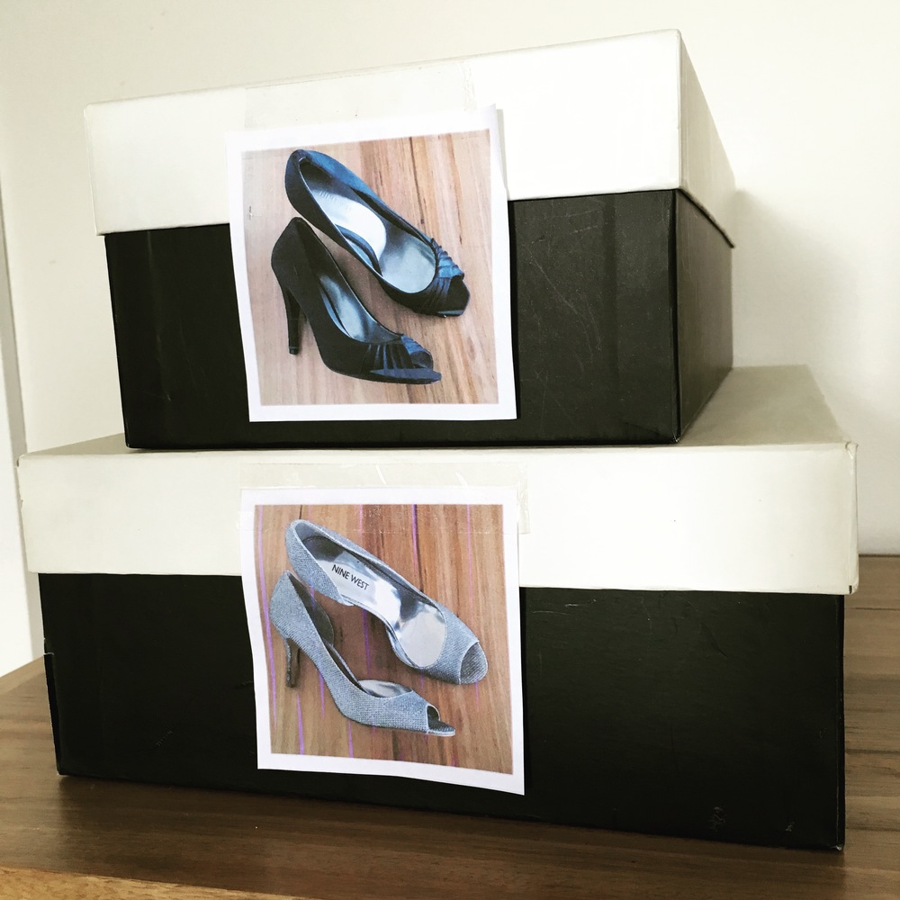 You only need to take a quick glance to see what is in each shoe box.  Image: The Organising Bee