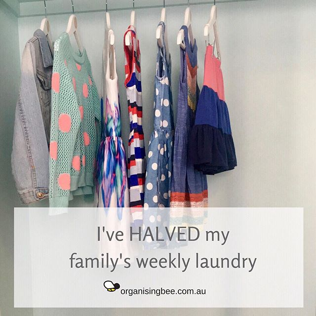 #ontheblog I've HALVED my family's weekly laundry and the benefits have truly blown my mind.  Definitely worth exploring... ⠀ ⠀ https://www.organisingbee.com.au/organisingbuzz/2018/6/1/ive-halved-my-familys-weekly-laundry-heres-how⠀ ⠀ #organisingbee #professionalorganiser #homeorganising #canberra #organisingfamilies #canberraorganiser #organisingmums #organisingcanberra #organise