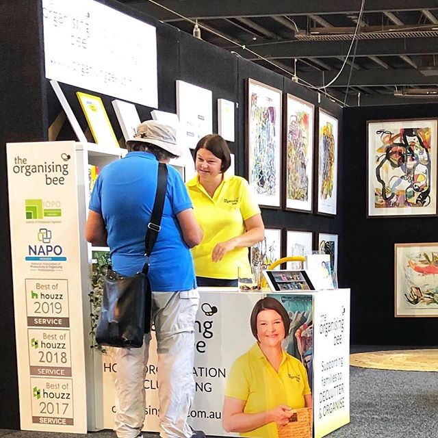I'm still recovering from a massive weekend @theshowroomcanberra Creative Home Show.  Thank you to everyone who came to say hello at The Organising Bee stand and to those of you who came to listen to me speak.  Congratulations to the event organisers Mel and Kate for for a fabulous event.  Stellar job ladies!