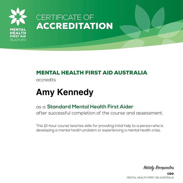 I'm pleased to have been accredited by Mental Health First Aid Australia as a Mental Health First Aider.  This means that I have extra tools to provide initial help if one of my clients is developing a mental health problem or experiencing a mental health crisis. ⠀ ⠀ #mentalhealthfirstaid #residentialdecluttering #canberraprofessionalorganiser #organiser #professionalorganisercanberra #organisingcanberra #clutterfree #organisecanberra #organisinglife #familyorganisation #homeorganisercanberra #homeorganiser #professionalorganising #organising #organised #getorganised #canberralocals #canberramums #declutter #professionaldevelopment