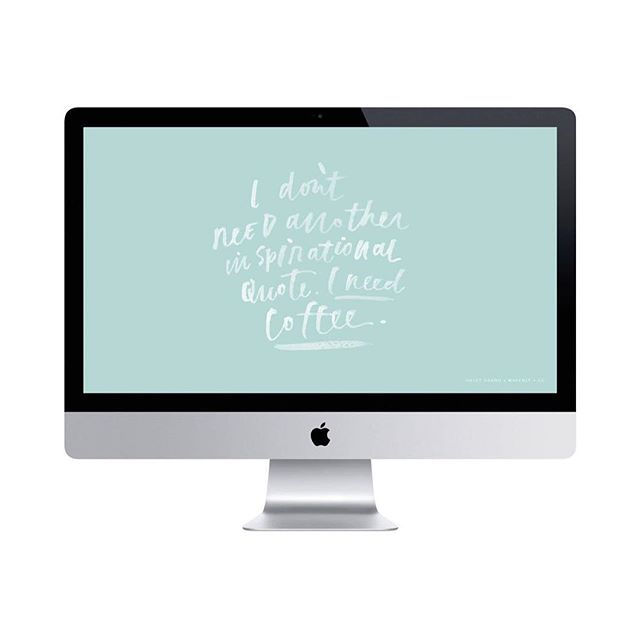 If this isn't Sunday vibes, then we don't know what is. ☕️ Tomorrow we begin a new month, and to celebrate @haleygranddesigns shares another amazing design with us so you can have it on your desktop as a reminder to move past the inspirational words to inspired action. ✨ Link in bio to read her post and download the beautiful wallpaper. 💯