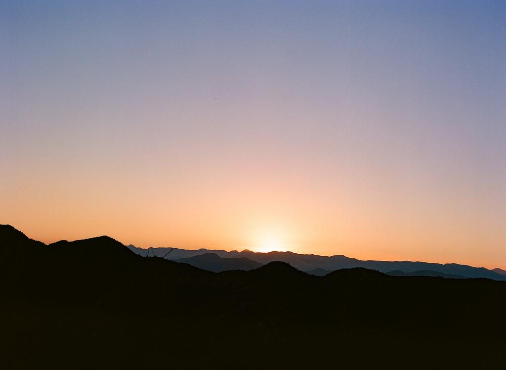 Topatopa Mountain Range, NNW of Santa Clarita, CA at sunset,Pentax 645, Kodak Ektar 100, Developed and Scanned by Richard Photo Lab.