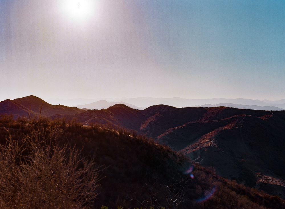 Topatopa Mountain Range, NNW of Santa Clarita, CA, waiting on sunset,Pentax 645, Kodak Ektar 100, Developed and Scanned by Richard Photo Lab.