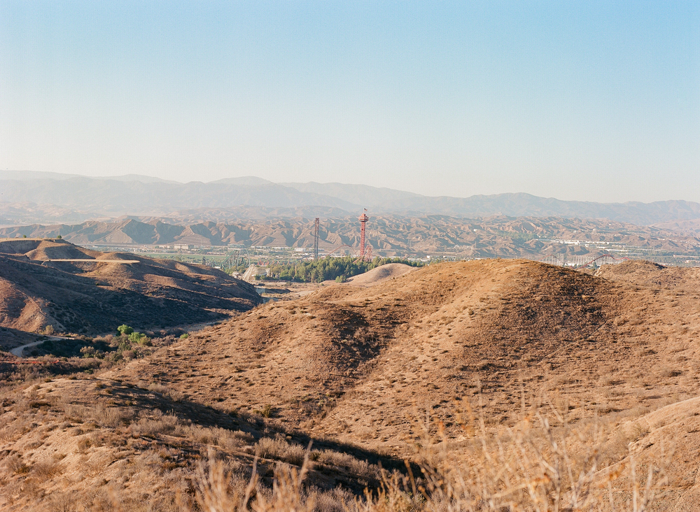 Six Flags Magic Mountain, killing time waiting on sunset, Pentax 645, Kodak Ektar 100, Developed and Scanned by Richard Photo Lab.