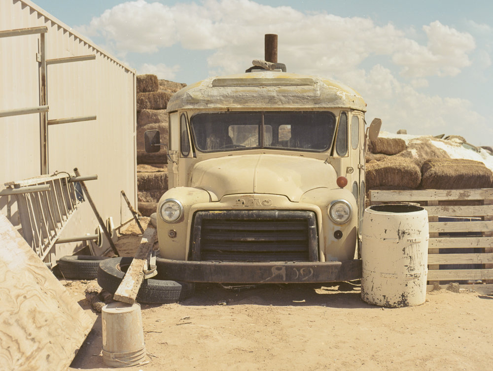28 Aug 2016, Old Truck, Salvation Mountain, Niland, CA. Pentax 645, Ektar 100 @ 400, Developed (Unicolor) and Scanned by me.