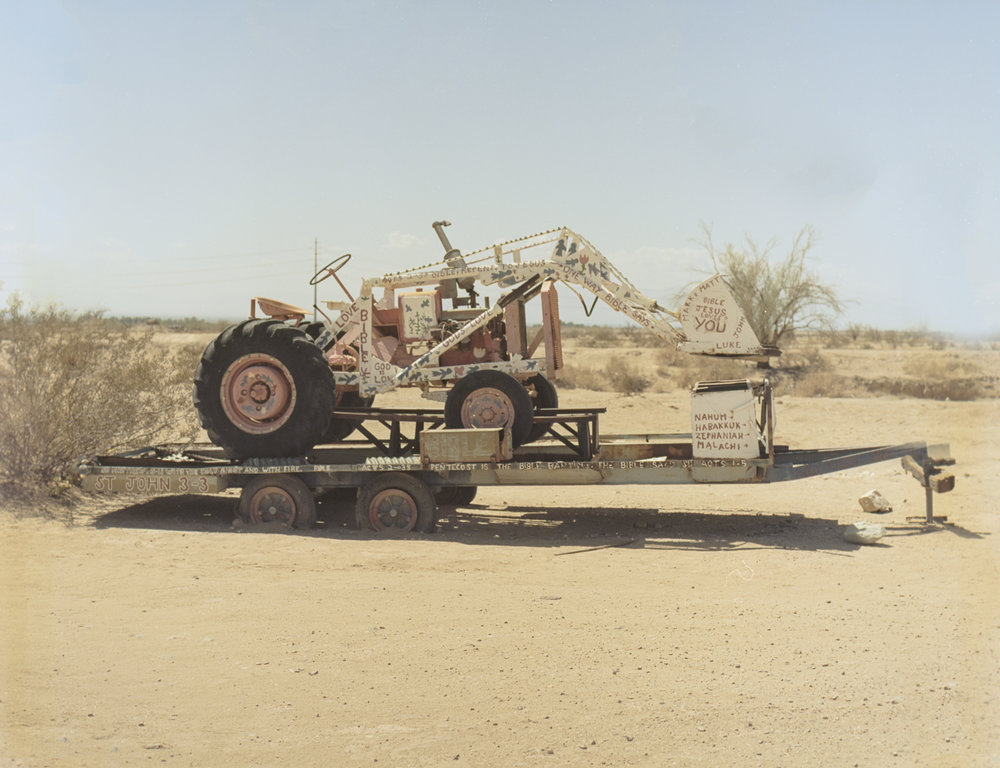 28 Aug 2016, Old Backhoe, Salvation Mountain, Niland, CA. Pentax 645, Ektar 100 @ 400, Developed (Unicolor) and Scanned by me.