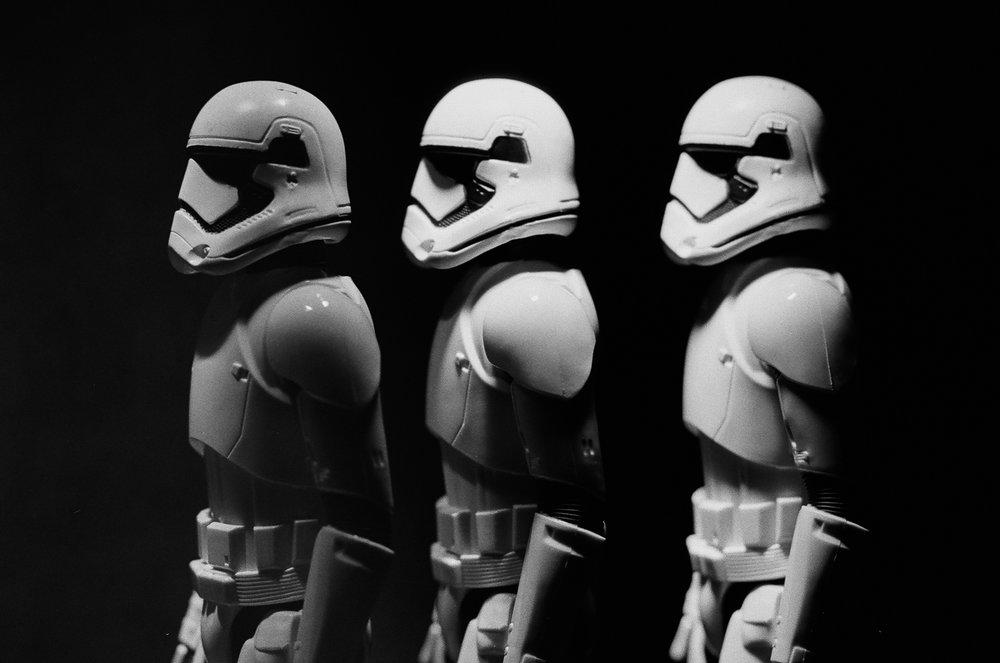 Jun 2016, Stormtrooper (mulitple exposure), Canon EOS-1, Tri-X - (c) Steven Starr